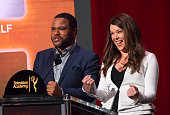 Actors Anthony Anderson and Lauren Graham announce the 2016 nominees during the 68th Emmy Nominations Announcement at the Academy of Television Arts...