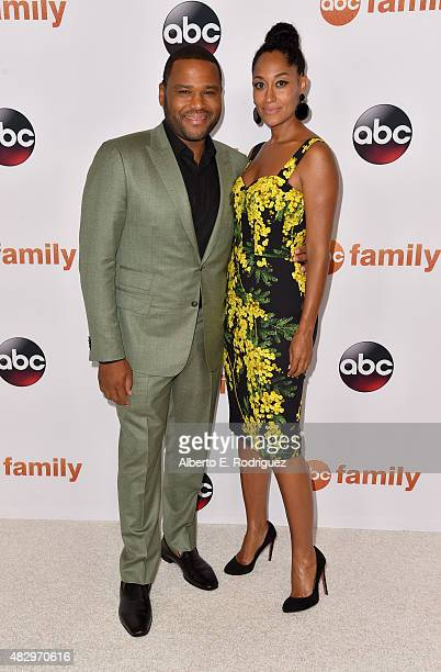 Actors Anthony Anderson and Tracee Ellis Ross attend Disney ABC Television Group's 2015 TCA Summer Press Tour at the Beverly Hilton Hotel on August 4...