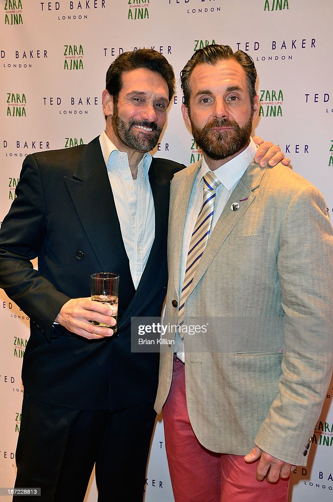 Actors Anthony Crivello and Lucas Rooney attend the Zara Aina Foundation Benefit at Ted Baker on April 22, 2013 in New York City.