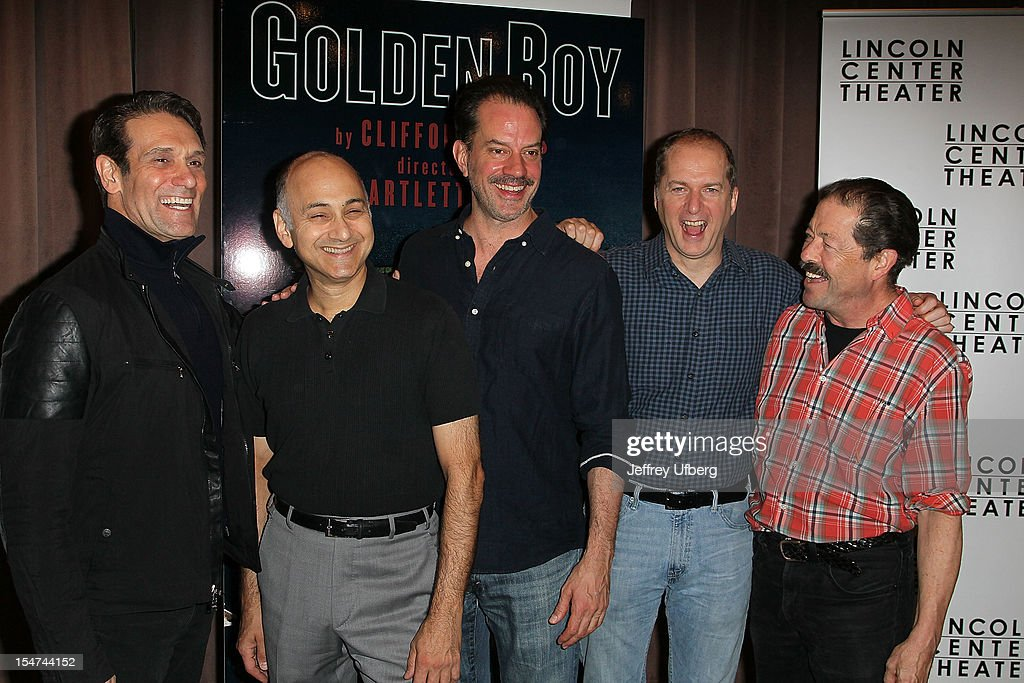 Actors Anthony Crivello, Ned Eisenberg, Danny Mastrogiorgio, Daniel Jenkins and Jonathan Hadary attend the 'Golden Boy' Cast Meet & Greet at the Lincoln Center Theater on October 25, 2012 in New York City.