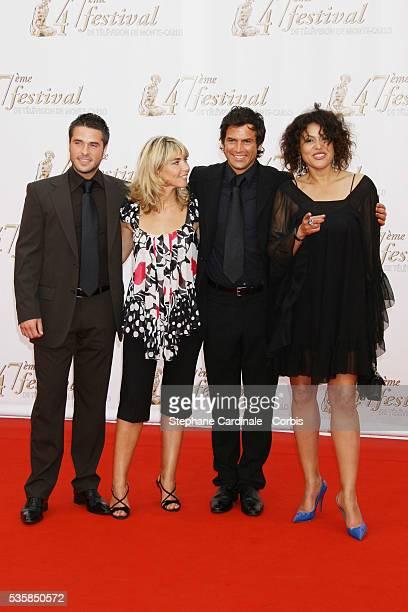 Actors Anthony Dupray Nathalie Vincent Filip Nikolic and Viktor Lazlo attend the TF1 premiere of 'Mystere'