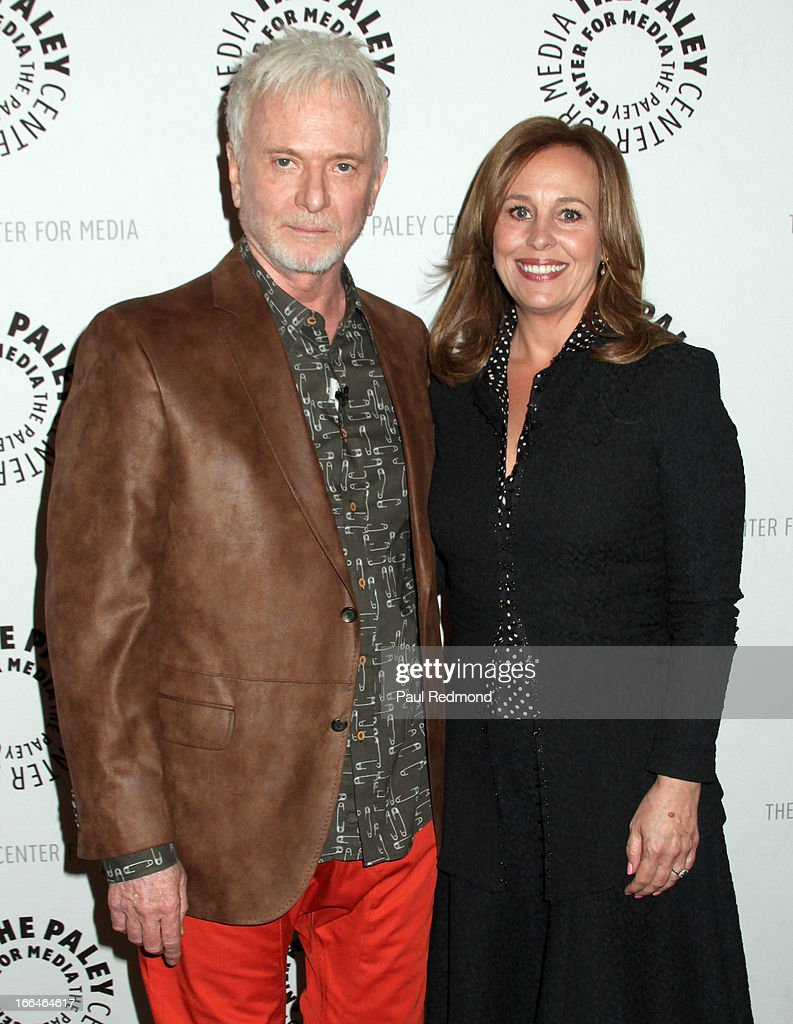 Actors <a gi-track='captionPersonalityLinkClicked' href=/galleries/search?phrase=Anthony+Geary&family=editorial&specificpeople=663634 ng-click='$event.stopPropagation()'>Anthony Geary</a> and <a gi-track='captionPersonalityLinkClicked' href=/galleries/search?phrase=Genie+Francis&family=editorial&specificpeople=1065309 ng-click='$event.stopPropagation()'>Genie Francis</a> arrive at The Paley Center For Media Presents 'General Hospital: Celebrating 50 Years And Looking Forward' at The Paley Center for Media on April 12, 2013 in Beverly Hills, California.
