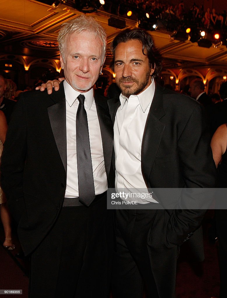 Actors Anthony Geary and Thorsten Kaye attend the 36th Annual Daytime Emmy Awards at The Orpheum Theatre on August 30, 2009 in Los Angeles, California.
