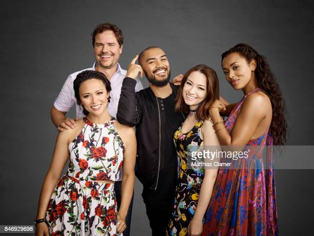Actors Anthony Lemke Melissa ONeil Alex Mallari Jr Jodelle Ferland and Melanie Liburd from 'Dark Matter' are photographed for Entertainment Weekly...