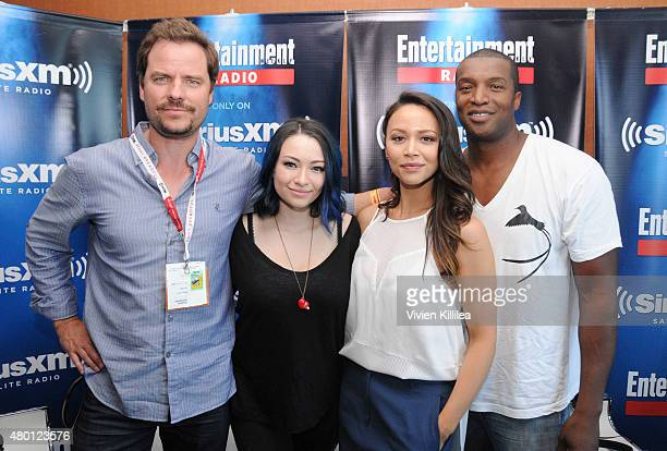 Actors Anthony Lemke Melissa O'Neil Jodelle Ferland and Roger Cross attend SiriusXM's Entertainment Weekly Radio Channel Broadcasts From ComicCon...