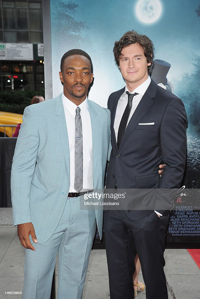 Actors <a gi-track='captionPersonalityLinkClicked' href=/galleries/search?phrase=Anthony+Mackie&family=editorial&specificpeople=206212 ng-click='$event.stopPropagation()'>Anthony Mackie</a> (L) and <a gi-track='captionPersonalityLinkClicked' href=/galleries/search?phrase=Benjamin+Walker+-+Actor&family=editorial&specificpeople=3953750 ng-click='$event.stopPropagation()'>Benjamin Walker</a> attend the 'Abraham Lincoln: Vampire Slayer 3D' New York Premiere at AMC Loews Lincoln Square 13 theater on June 18, 2012 in New York City.
