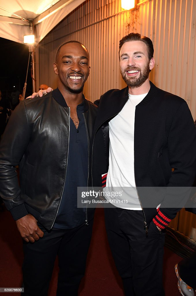 actors-anthony-mackie-and-chris-evans-attend-the-2016-mtv-movie-at-picture-id520076630