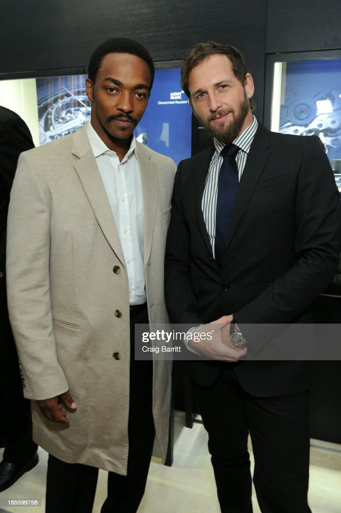 Actors <a gi-track='captionPersonalityLinkClicked' href=/galleries/search?phrase=Anthony+Mackie&family=editorial&specificpeople=206212 ng-click='$event.stopPropagation()'>Anthony Mackie</a> and <a gi-track='captionPersonalityLinkClicked' href=/galleries/search?phrase=Josh+Lucas&family=editorial&specificpeople=216514 ng-click='$event.stopPropagation()'>Josh Lucas</a> attend Montblanc celebrates Madison Avenue Boutique Opening at Montblanc Boutique on Madison Avenue on October 22, 2013 in New York City.