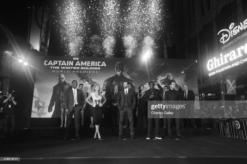 Actors <a gi-track='captionPersonalityLinkClicked' href=/galleries/search?phrase=Anthony+Mackie&family=editorial&specificpeople=206212 ng-click='$event.stopPropagation()'>Anthony Mackie</a>, <a gi-track='captionPersonalityLinkClicked' href=/galleries/search?phrase=Scarlett+Johansson&family=editorial&specificpeople=171858 ng-click='$event.stopPropagation()'>Scarlett Johansson</a>, <a gi-track='captionPersonalityLinkClicked' href=/galleries/search?phrase=Chris+Evans+-+Actor&family=editorial&specificpeople=6873149 ng-click='$event.stopPropagation()'>Chris Evans</a>, <a gi-track='captionPersonalityLinkClicked' href=/galleries/search?phrase=Samuel+L.+Jackson&family=editorial&specificpeople=167234 ng-click='$event.stopPropagation()'>Samuel L. Jackson</a>, <a gi-track='captionPersonalityLinkClicked' href=/galleries/search?phrase=Sebastian+Stan&family=editorial&specificpeople=656034 ng-click='$event.stopPropagation()'>Sebastian Stan</a>, Emily VanCamp, Frank Grillo, <a gi-track='captionPersonalityLinkClicked' href=/galleries/search?phrase=Cobie+Smulders&family=editorial&specificpeople=739940 ng-click='$event.stopPropagation()'>Cobie Smulders</a>, Maximiliano Hernandez, <a gi-track='captionPersonalityLinkClicked' href=/galleries/search?phrase=Georges+St-Pierre&family=editorial&specificpeople=4864241 ng-click='$event.stopPropagation()'>Georges St-Pierre</a>, <a gi-track='captionPersonalityLinkClicked' href=/galleries/search?phrase=Callan+Mulvey&family=editorial&specificpeople=4687797 ng-click='$event.stopPropagation()'>Callan Mulvey</a>, <a gi-track='captionPersonalityLinkClicked' href=/galleries/search?phrase=Hayley+Atwell&family=editorial&specificpeople=2331262 ng-click='$event.stopPropagation()'>Hayley Atwell</a>, directors <a gi-track='captionPersonalityLinkClicked' href=/galleries/search?phrase=Joe+Russo+-+Director&family=editorial&specificpeople=14327733 ng-click='$event.stopPropagation()'>Joe Russo</a> and Anthony Russo and executive producer Louis D'Esposito attend Ma
