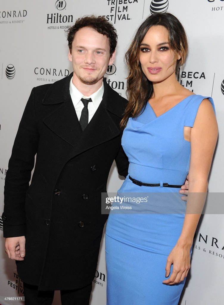 Actors Anton Yelchin and Berenice Marlohe arrive at the 2014 Tribeca Film Festival LA Kickoff Reception at The Beverly Hilton Hotel on March 17 2014...
