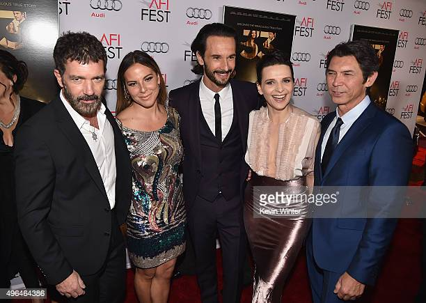 Actors Antonio Banderas Kate del Castillo Rodrigo Santoro Juliette Binoche and Lou Diamond Phillips attend the Centerpiece Gala Premiere of Alcon...