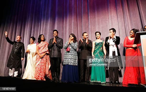 Actors Anupam Kher Seema Biswas Sarita Choudhury Samrat Chakrabarti Rahul Bose Shikha Talsania Anita Majumdar Zaib Shaikh and Shahana Goswami attend...