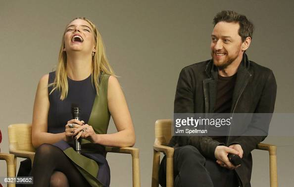 Actors Anya Taylor Joy and James McAvoy attend Meet the Actor to discuss 'Split' at Apple Store Soho on January 19 2017 in New York City