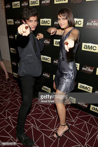 Actors Aramis Knight and Ally Ioannides attend AMC's 'Into The Badlands' Premiere on October 13 2015 in West Hollywood California