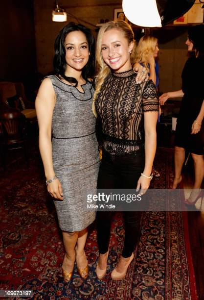 Actors Archie Panjabi and Hayden Panettiere attend the Variety Emmy Studio at Palihouse on May 30 2013 in West Hollywood California