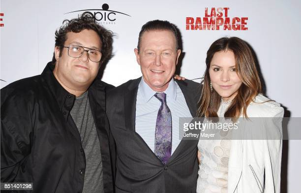 Actors Ari Stidham Katharine McPhee and Robert Patrick attend the Premiere Of Epic Pictures Releasings' 'Last Rampage' at ArcLight Cinemas on...