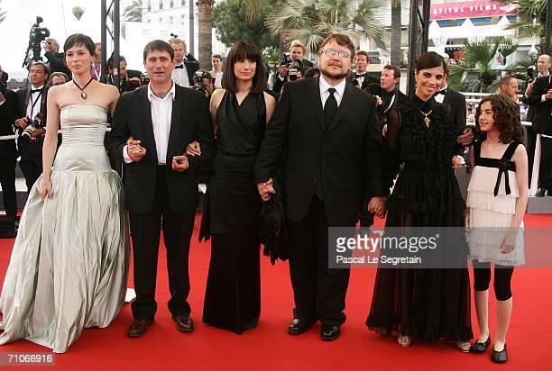 Actors Ariadna Gil Sergi Lopez unidentified guest director Guillermo del Toro actors Maribel Verdu and Ivana Baquero attend the 'El Laberinto Del...
