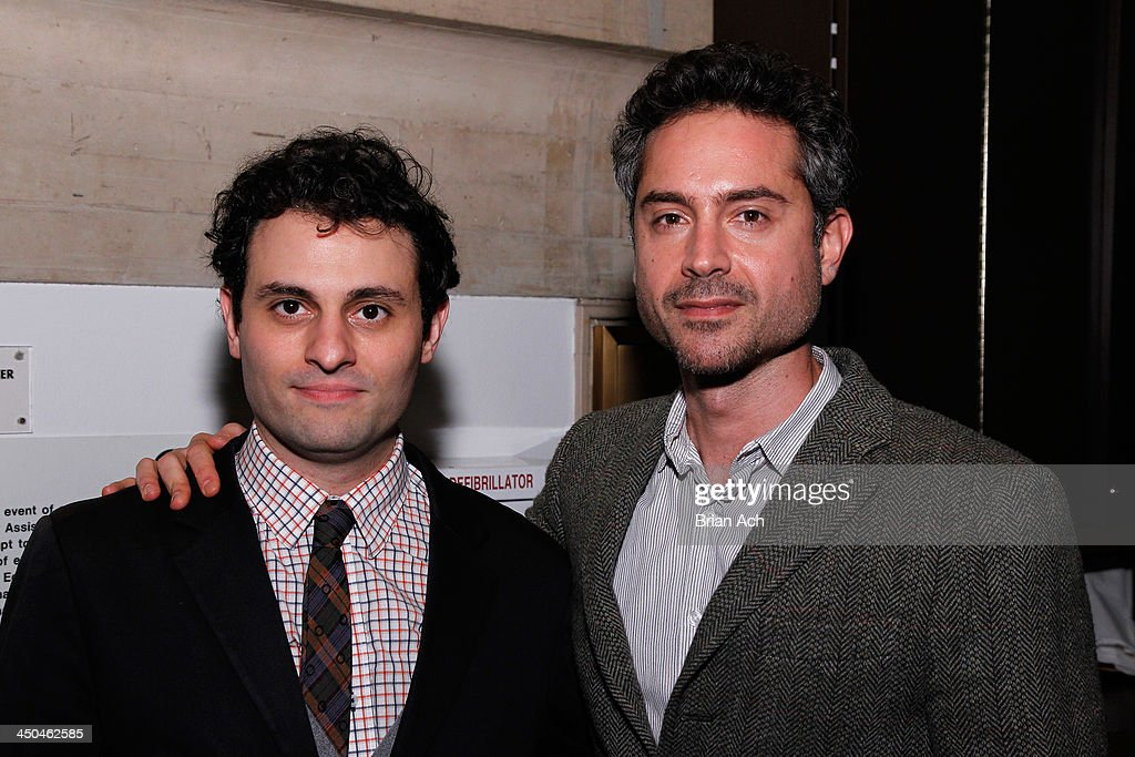 Actors Arian Moayed (L) and Omar Metwally attend The 2013 Steinberg Playwright 'Mimi' Awards presented by The Harold and Mimi Steinberg Charitable Trust at Lincoln Center Theater on November 18, 2013 in New York City.