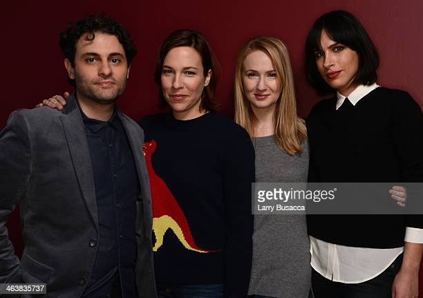 Actors Arian Moayed Rebecca Henderson and Halley Feiffer and filmmaker Desiree Akhavan pose for a portrait during the 2014 Sundance Film Festival at...