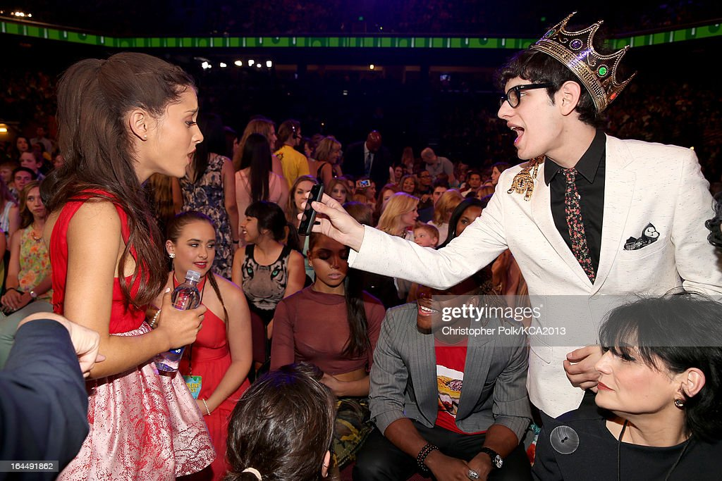 Actors Ariana Grande and Matt Bennett at Nickelodeon's 26th Annual Kids' Choice Awards at USC Galen Center on March 23, 2013 in Los Angeles, California.