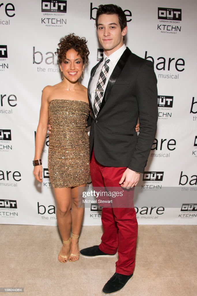 Actors Ariana Groover (L) and Casey Garvin attends 'BARE The Musical' Opening Night After Party at Out Hotel on December 9, 2012 in New York City.
