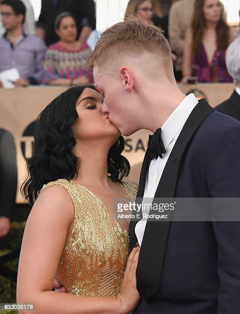 Actors Ariel Winter and Levi Meaden attend the 23rd Annual Screen Actors Guild Awards at The Shrine Expo Hall on January 29 2017 in Los Angeles...