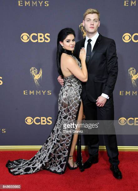 Actors Ariel Winter and Levi Meaden attend the 69th Annual Primetime Emmy Awards at Microsoft Theater on September 17 2017 in Los Angeles California