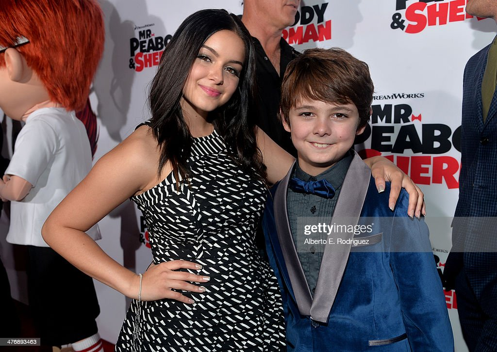 Actors Ariel Winter and Max Charles attend the premiere of Twentieth Century Fox and DreamWorks Animation's 'Mr Peabody Sherman' at Regency Village...