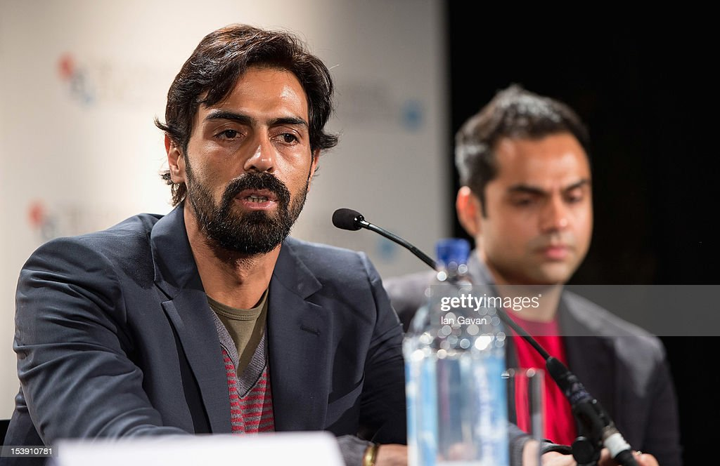 Actors <a gi-track='captionPersonalityLinkClicked' href=/galleries/search?phrase=Arjun+Rampal&family=editorial&specificpeople=684118 ng-click='$event.stopPropagation()'>Arjun Rampal</a> and <a gi-track='captionPersonalityLinkClicked' href=/galleries/search?phrase=Abhay+Deol&family=editorial&specificpeople=5377911 ng-click='$event.stopPropagation()'>Abhay Deol</a> attend the 'Chakravyuh' press conference during the 56th BFI London Film Festival at the Empire Leicester Square on October 11, 2012 in London, England.