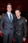 Actors Armie Hammer and David Arquette attend Giorgio Armani and GQ Host A Private Screening of 'J Edgar' at Soho House on November 16 2011 in West...