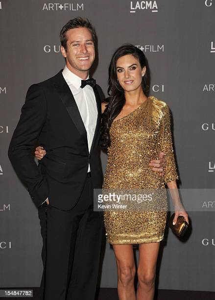 Actors Armie Hammer and Elizabeth Chambers arrive at LACMA 2012 Art Film Gala at LACMA on October 27 2012 in Los Angeles California