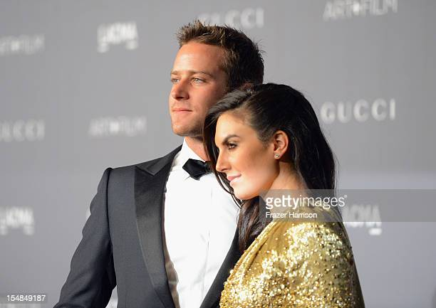 Actors Armie Hammer and Elizabeth Chambers arrive at LACMA 2012 Art Film Gala Honoring Ed Ruscha and Stanley Kubrick presented by Gucci at LACMA on...