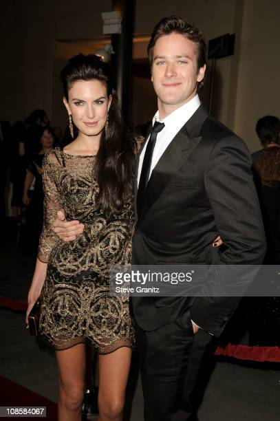 Actors Armie Hammer and Elizabeth Chambers arrive at the 63rd Annual DGA Awards held at the Grand Ballroom at Hollywood Highland Center on January 29...