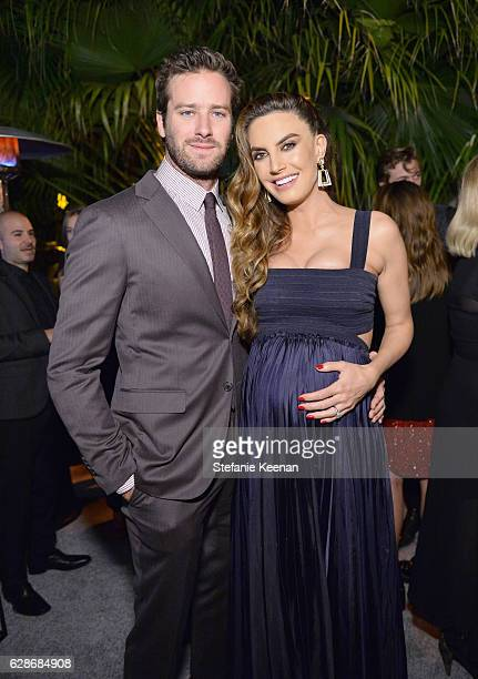 Actors Armie Hammer and Elizabeth Chambers attend the 2016 GQ Men of the Year Party at Chateau Marmont on December 8 2016 in Los Angeles California