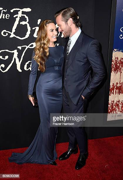 Actors Armie Hammer and Elizabeth Chambers attend the premiere of Fox Searchlight Pictures' 'The Birth of a Nation' at ArcLight Cinemas Cinerama Dome...
