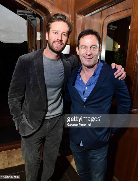 Actors Armie Hammer and Jason Isaacs attend The Hollywood Foreign Press Association and InStyle's annual celebrations of the 2017 Toronto...