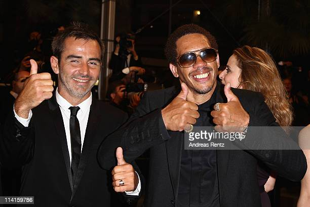 Actors Arnaud Henriet and Joey Starr attend the 'Polisse' premiere at the Palais des Festivals during the 64th Cannes Film Festival on May 13 2011 in...
