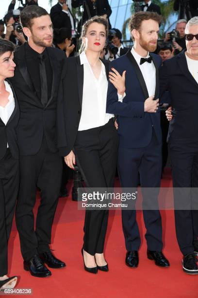 Actors Arnaud Valois Adele Haenel Antoine Reinartz and director Robin Campillo attend the Closing Ceremony during the 70th annual Cannes Film...