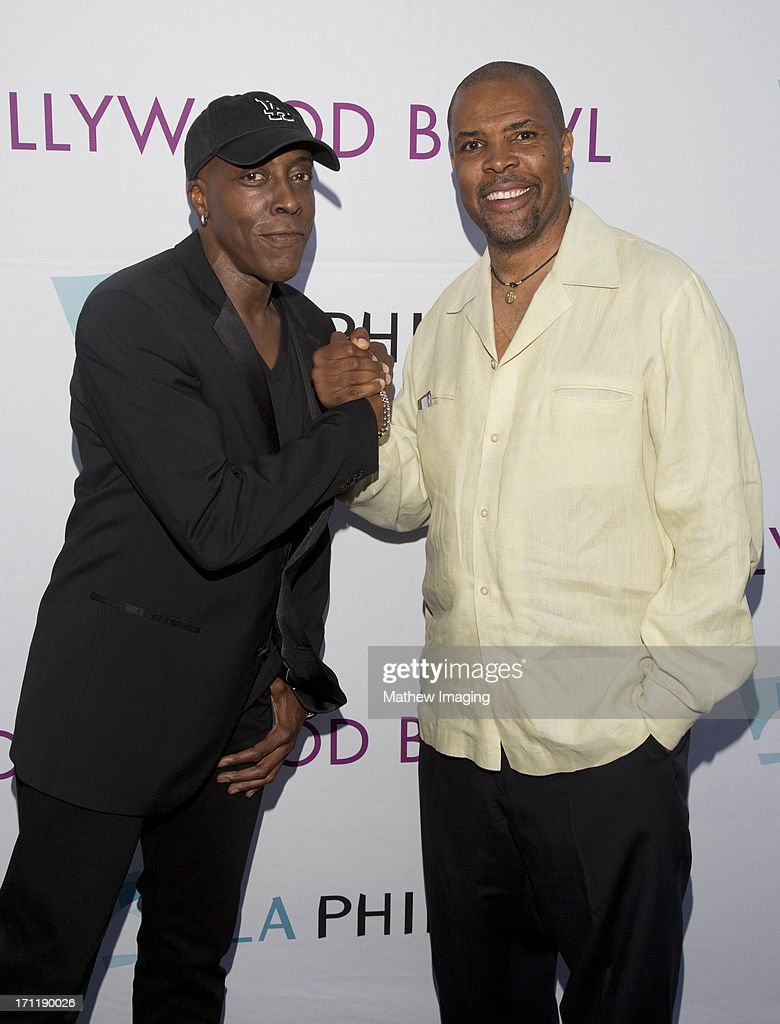 Actors <a gi-track='captionPersonalityLinkClicked' href=/galleries/search?phrase=Arsenio+Hall&family=editorial&specificpeople=211441 ng-click='$event.stopPropagation()'>Arsenio Hall</a> and <a gi-track='captionPersonalityLinkClicked' href=/galleries/search?phrase=Eriq+La+Salle&family=editorial&specificpeople=846844 ng-click='$event.stopPropagation()'>Eriq La Salle</a> attend Hollywood Bowl Opening Night Gala - Arrivals at The Hollywood Bowl on June 22, 2013 in Los Angeles, California.
