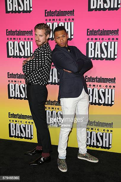 Actors Arthur Darvill and Franz Drameh attend Entertainment Weekly's Annual ComicCon Party 2016 at Float at Hard Rock Hotel San Diego on July 23 2016...