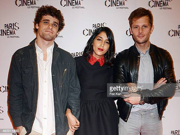 Actors Arthur Dupont Leila Bekhti and Nicolas Duvauchelle attend the Screening of 'Maintenant Ou Jamais' As Part Of Festival Paris Cinema Day Six at...