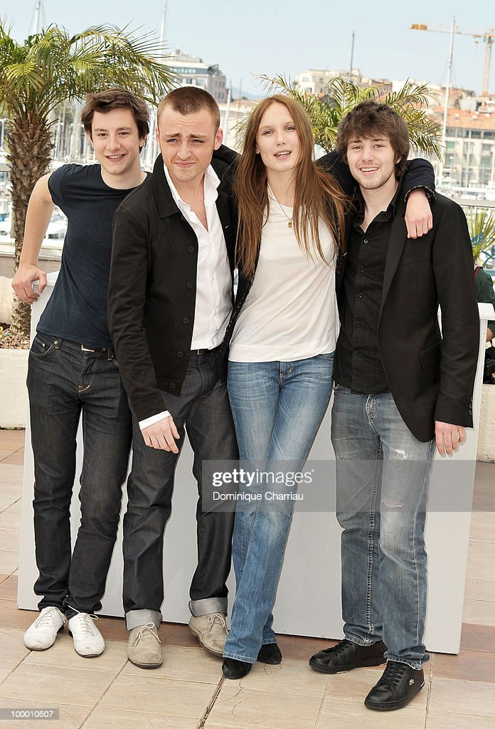 Actors Arthur Mazet, Jules Pelissier, actress Ana Girardot and actor Laurent Delbecque attend the 'Lights Out' Photo Call held at the Palais des Festivals during the 63rd Annual International Cannes Film Festival on May 20, 2010 in Cannes, France.