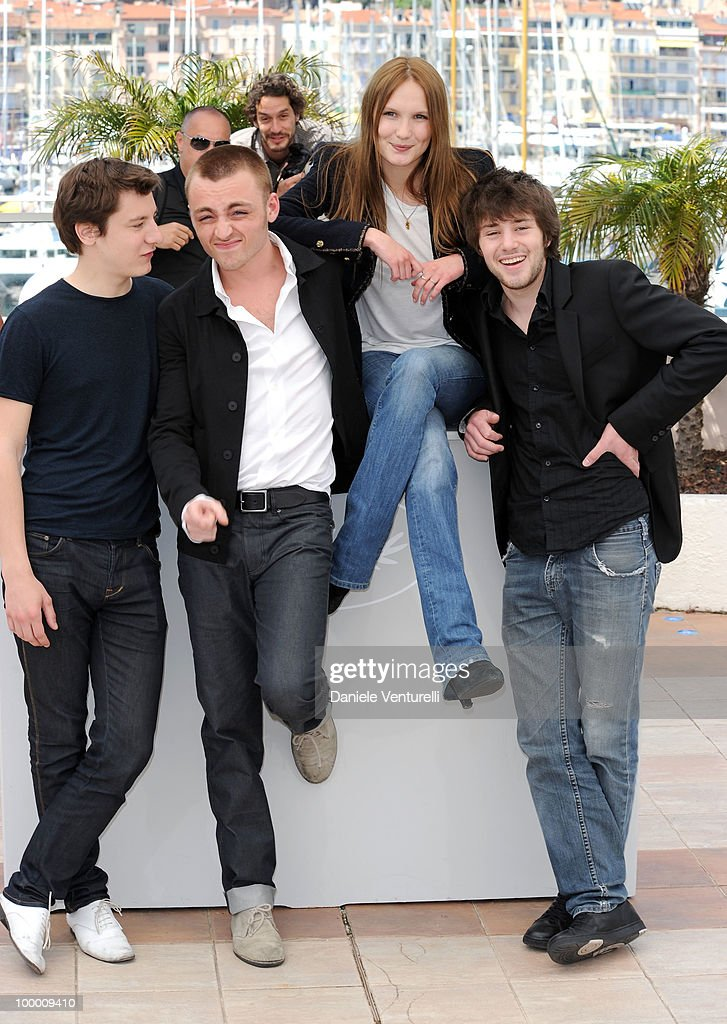 Actors Arthur Mazet, Jules Pelissier, Ana Girardot and Laurent Delbecque attend the 'Lights Out' Photo Call held at the Palais des Festivals during the 63rd Annual International Cannes Film Festival on May 20, 2010 in Cannes, France.