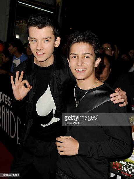 Actors Asa Butterfield and Aramis Knight arrive at the premiere of Paramount Pictures' 'Jackass Presents Bad Grandpa' at TCL Chinese Theatre on...