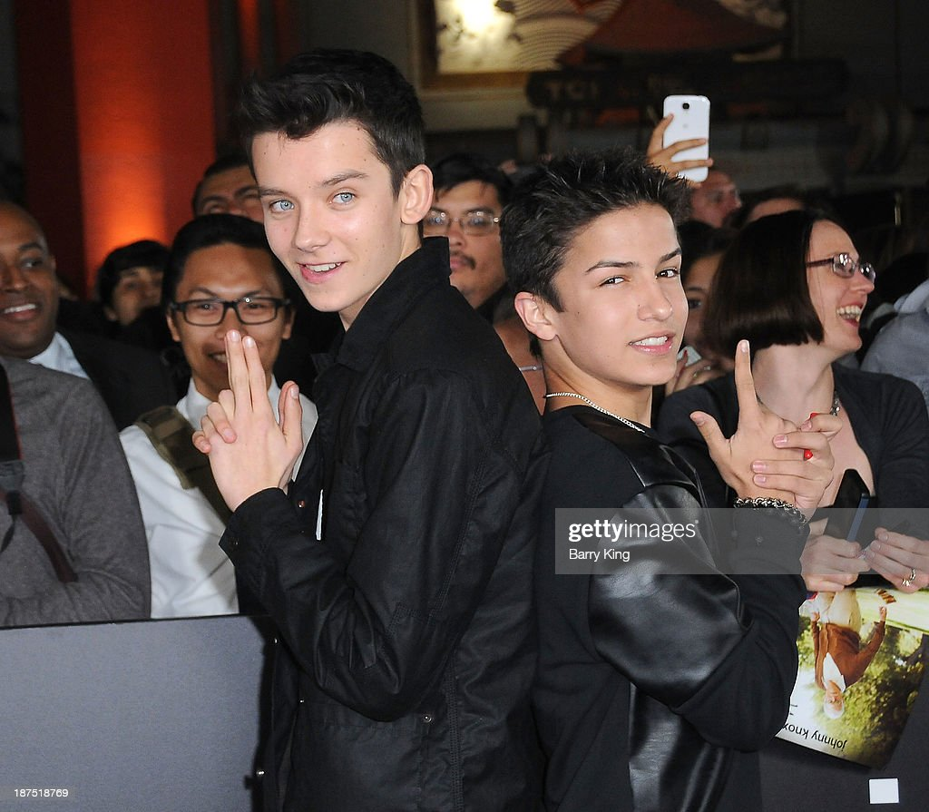 Actors <a gi-track='captionPersonalityLinkClicked' href=/galleries/search?phrase=Asa+Butterfield&family=editorial&specificpeople=5523693 ng-click='$event.stopPropagation()'>Asa Butterfield</a> and <a gi-track='captionPersonalityLinkClicked' href=/galleries/search?phrase=Aramis+Knight&family=editorial&specificpeople=4537000 ng-click='$event.stopPropagation()'>Aramis Knight</a> attend the Los Angeles premiere of 'Bad Grandpa: Presented by Jackass' on October 23, 2013 at TCL Chinese Theatre in Hollywood, California.