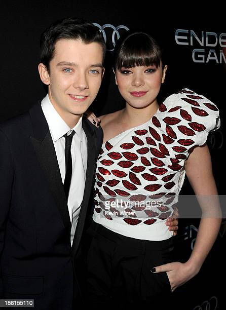 Actors Asa Butterfield and Hailee Steinfeld attend the Premiere Of Summit Entertainment's 'Ender's Game' at TCL Chinese Theatre on October 28 2013 in...