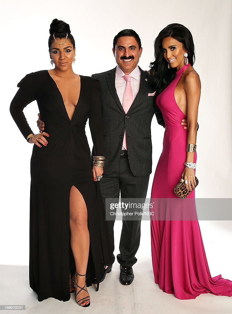Actors Asa Soltan Rahmati, Reza Farahan and Lilly Ghalichi attend the NBCUniversal 2013 TCA Winter Press Tour at The Langham Huntington Hotel and Spa on January 6, 2013 in Pasadena, California.