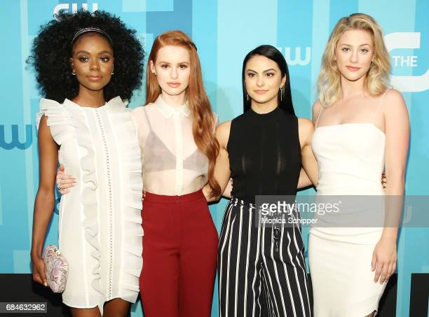 Actors Ashleigh Murray Madelaine Petsch Camila Mendes and Lili Reinhart attend the 2017 CW Upfront on May 18 2017 in New York City
