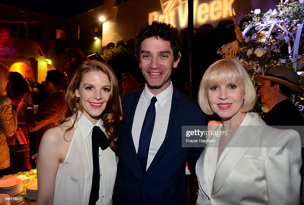Actors <a gi-track='captionPersonalityLinkClicked' href=/galleries/search?phrase=Ashley+Bell&family=editorial&specificpeople=3090917 ng-click='$event.stopPropagation()'>Ashley Bell</a>, <a gi-track='captionPersonalityLinkClicked' href=/galleries/search?phrase=James+Frain&family=editorial&specificpeople=2240982 ng-click='$event.stopPropagation()'>James Frain</a> and Victoria Bell attend the 8th Annual BritWeek Launch Party at a private residence on April 22, 2014 in Los Angeles, California.