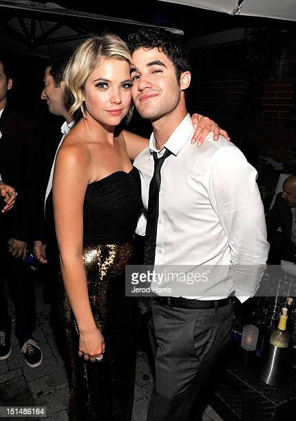 Actors Ashley Benson and Darren Criss attend the vitaminwater post party for the cast of 'Spring Breakers' during the 2012 Toronto International Film...